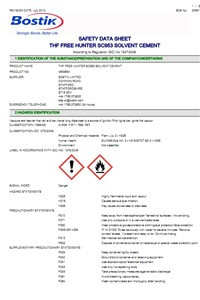 Solvent Cement - Safety Data Sheet